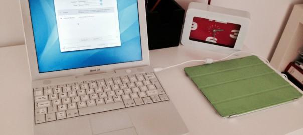 iBook G4 (MacOSX 10.4.11) und iPad 2